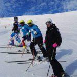 Čeští alpští lyžaři v Sella Nevea